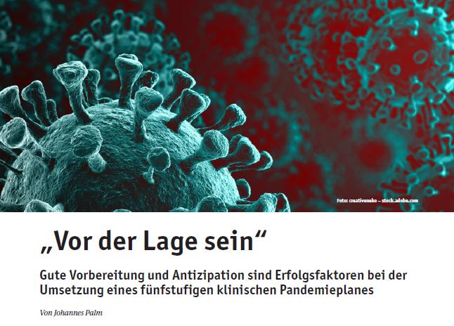Klinischer Pandemieplan für Coronavirus