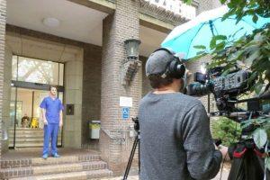 Dreharbeiten Paracelsus-Klinik Düsseldorf