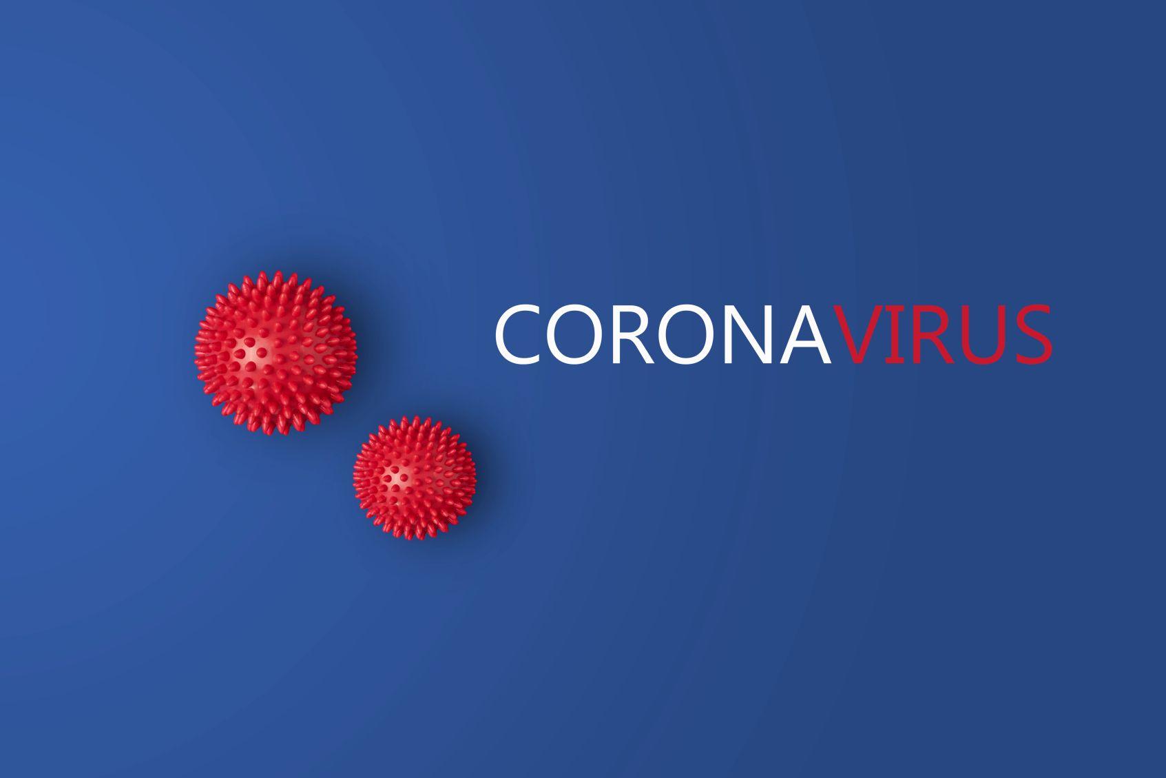 Schriftzug Coronavirus