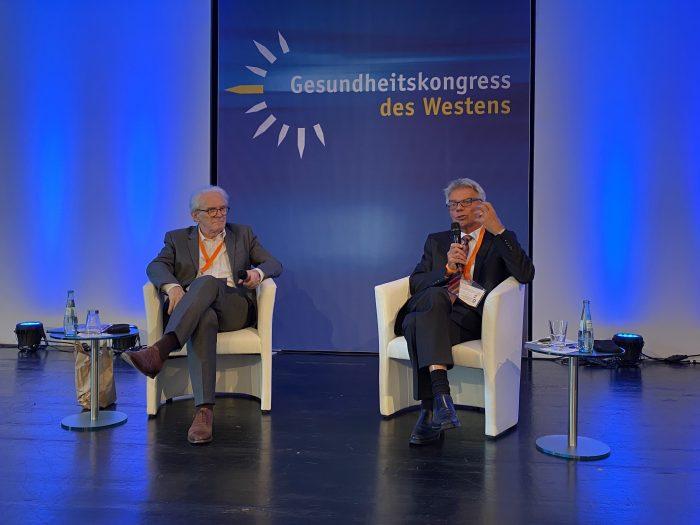 Gesundheitskongress des Westens. Max Einhäupl und Prof. Josef Hecken